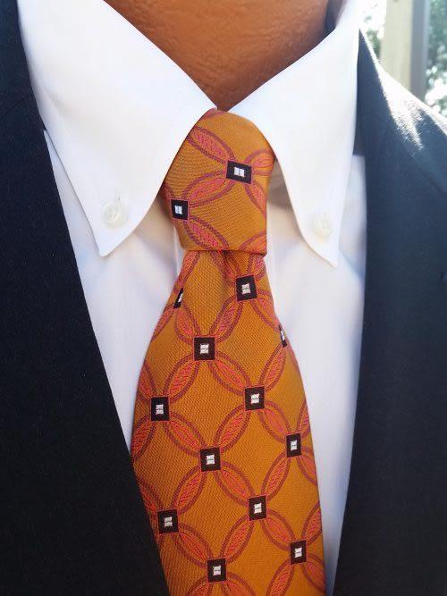 geometric copper tie
